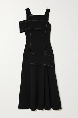 3.1 Phillip Lim One-shoulder Paneled Crepe Maxi Dress - Black