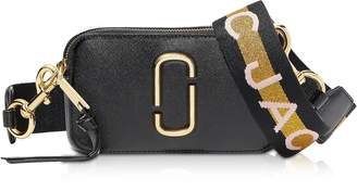 Marc Jacobs The Logo Strap Snapshot Small Saffiano Leather Camera Bag