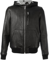 Alexander McQueen hooded bomber jacket - men - Leather - 48