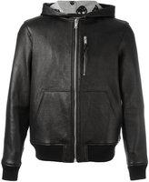 Alexander McQueen hooded bomber jacket - men - Leather - 50