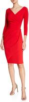 Chiara Boni Charisse 3/4-Sleeve Bodycon Cocktail Dress