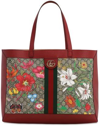 Gucci FLORA GG SUPREME TOTE BAG