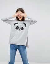 Asos Sweatshirt With Panda Motif