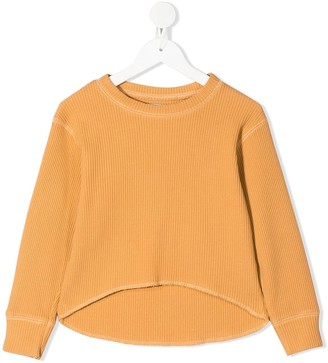 The New Society Waffle organic cotton jumper