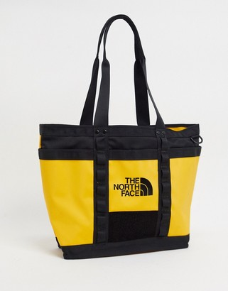 The North Face Explore Utility tote bag in yellow