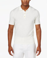 Sean John Men's Big & Tall Diagonally Striped Sweater Polo