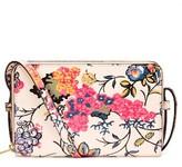 Tory Burch Mini Parker Floral Crossbody Bag - White