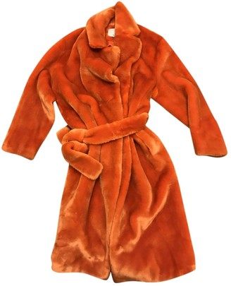 Tibi Orange Faux fur Coats