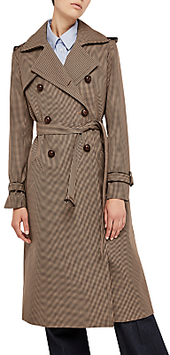 Gerard Darel Gretel Check Trench Coat, Camel