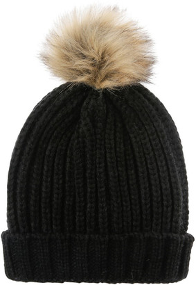 Miss Shop Beanie With Natural Pompom