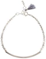 Dogeared Silver and Labradorite Pretty Everyday Gem Bracelet, Silver