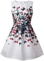 21KIDS Creative Art Colorful Paint Dress Print Summer Girls Casual Dresses Size 6-10