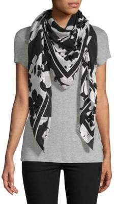 McQ Floral-Print Silk Scarf