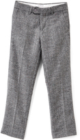 Isaac Mizrahi Gray Herringbone Wool-Blend Pants - Boys