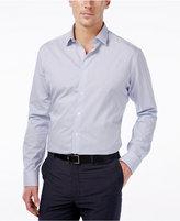 Alfani Men's Extra-Slim Fit Performance Blue Check Dress Shirt, Only at Macy's