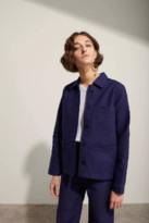 Le Mont St Michel Navy Blue Genuine Work Jacket - cotton | 38 | navy blue - Navy blue