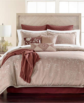 Martha Stewart Collection Distressed Damask 14-Pc. King Comforter Set, Bedding