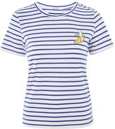 Glamorous **Banana Embroidery Striped T-Shirt