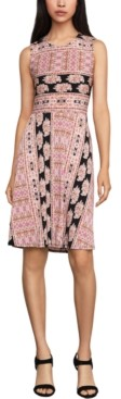 BCBGMAXAZRIA Printed A-Line Dress