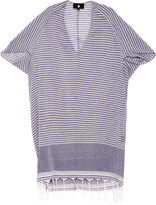SU Tipam V-neck tasseled striped kaftan