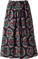 Aspesi geometric print drawstring skirt - women - Cotton - S