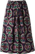 Aspesi geometric print drawstring skirt