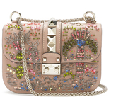 Valentino Lock small embellished shoulder bag