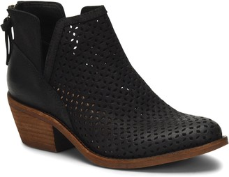 Sofft Leather Geometric Perforated Booties - Addie