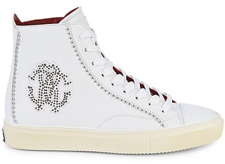 Roberto Cavalli Logo High-Top Sneakers