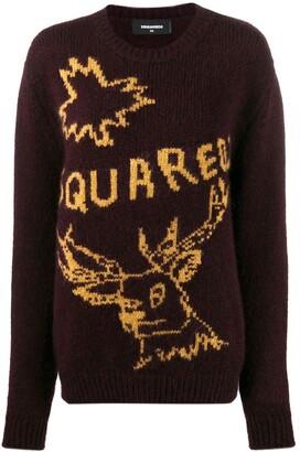 DSQUARED2 logo knit jumper