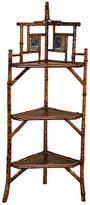 One Kings Lane Vintage 19th-C. French Bamboo Corner Shelf