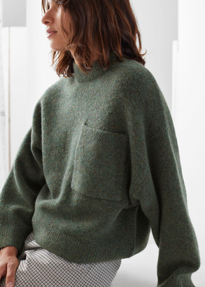 And other stories Chest Pocket Knit Sweater