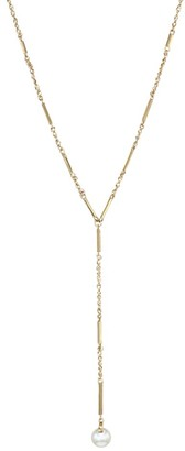 Celara 14K Yellow Gold & 6MM Pearl Y Necklace