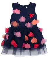 Halabaloo Infant Girl's Aloha Flower Applique Dress