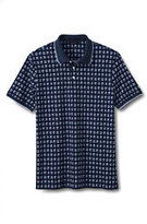 Classic Men's Slim Fit Short Sleeve Print Supima Polo Shirt Navy Nautical Print