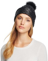 UGG Quilted Hat with Pom-Pom