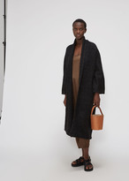 LAUREN MANOOGIAN Women's Long Shawl Cardigan Sweater in Black Melange Size 0 Alpaca/Polyamide