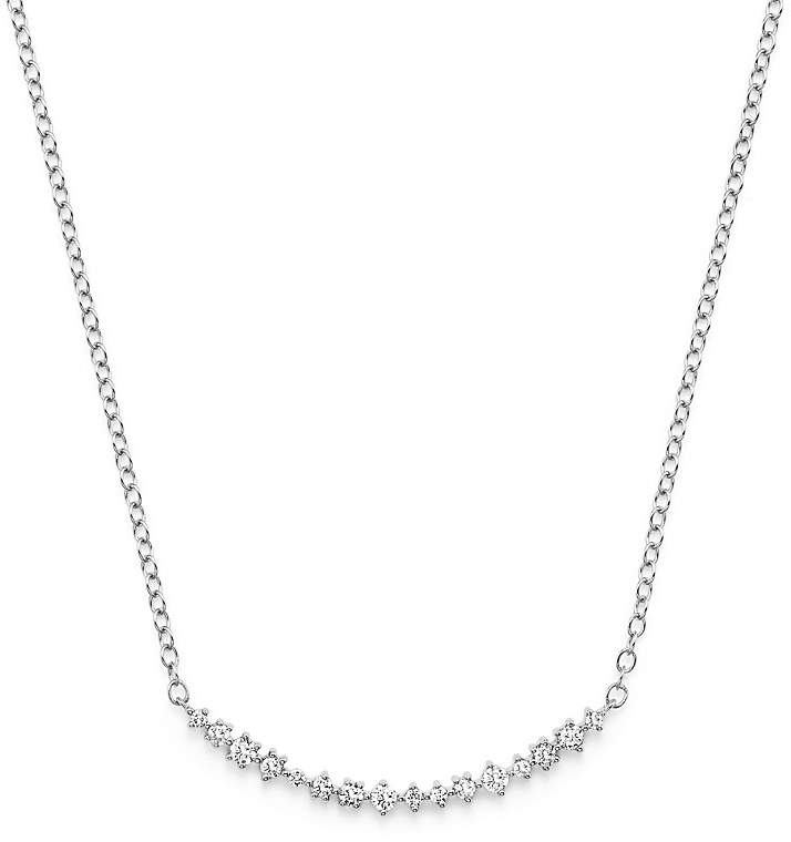 Bloomingdale's Diamond Scatter Bar Necklace in 14K White Gold, .30 ct. t.w.