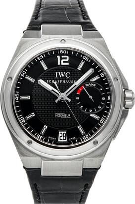 IWC Black Stainless Steel Big Ingenieur IW5005-01 Men's Wristwatch 45.5 MM