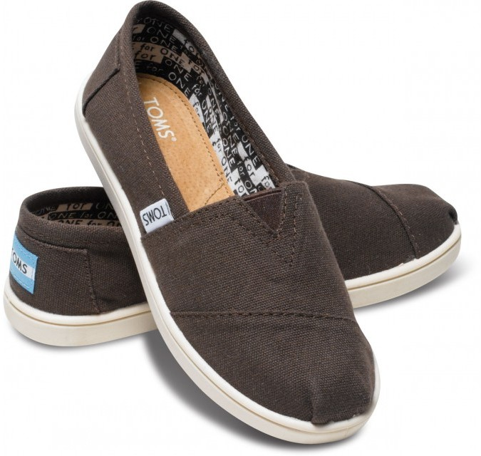 Toms Chocolate Canvas Youth Classics