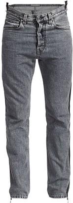 Helmut Lang Zippered High-Rise Straight-Leg Jeans