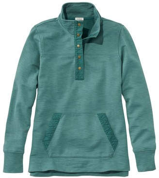 L.L. Bean Women's Rocky Coast Sweatshirt, Snap Henley