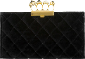 Alexander McQueen Jeweled Four Ring Clutch