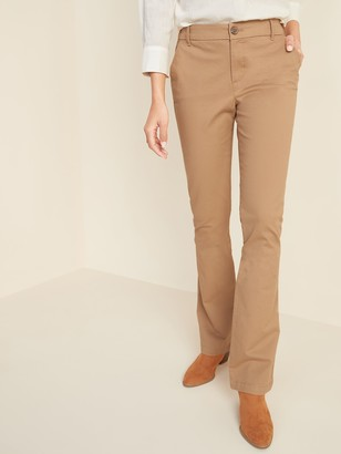 Old Navy Mid-Rise Boot-Cut Khakis for Women