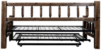 Montana Woodworks® Homestead Collection Day Bed w/ Pop Up Trundle Bed, Stain/Clear Lacque