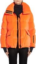 Moncler Atena Tech Velvet Puffer Jacket