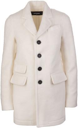 DSQUARED2 Ivory Cotton Blend Woman Coat