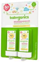 BabyGanics Sunscreen Stick, SPF 50 - 0.47oz (2pk)