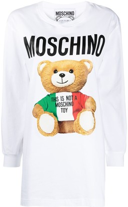 Moschino Teddy-print T-shirt dress