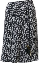 Figue 'Kloe' ikat print wrap skirt